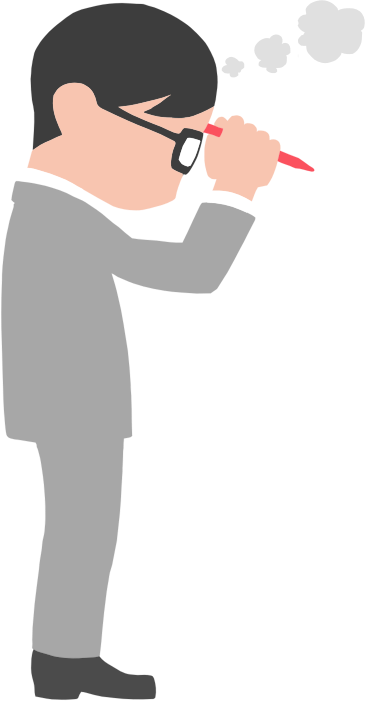 Clipart - Man In Suit Thinking