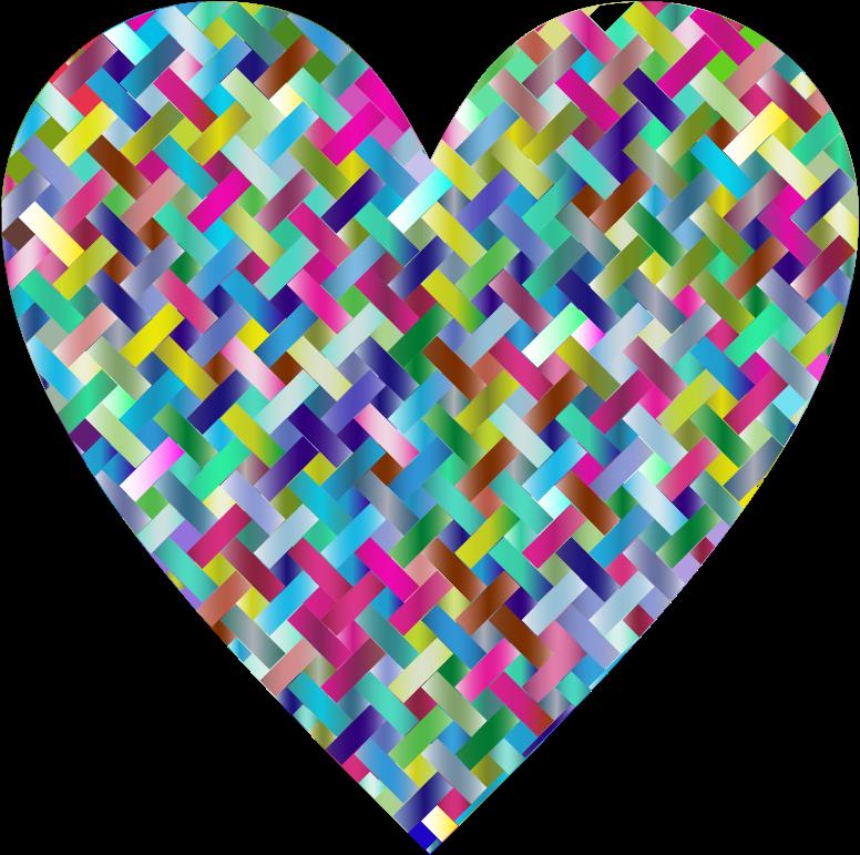 Clipart - Colorful Heart Lattice Weave 4