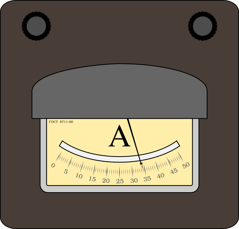 Ampermeter by boobaloo - Old-style ampermeter