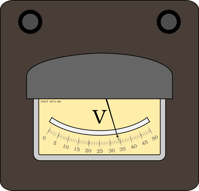 Voltmeter by boobaloo - Old-style voltmeter