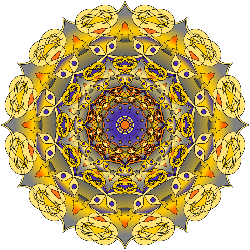 Clipart Purple And Gold Mandala