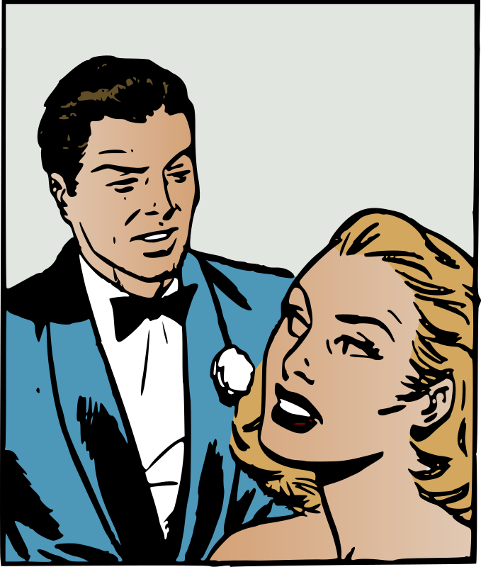 Clipart retro couple