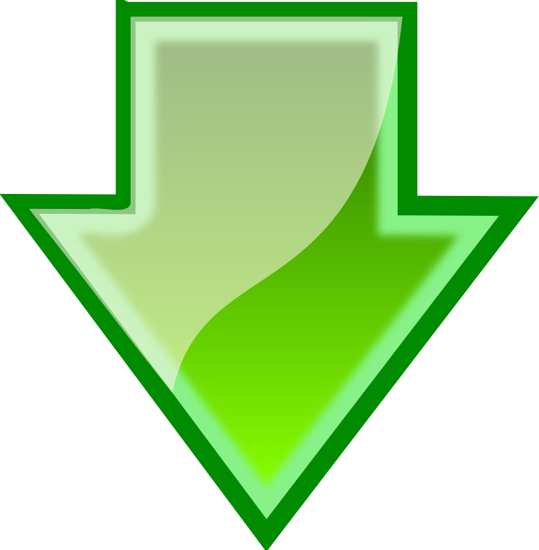 Download Arrow by bugmenot - This is a green download arrow I made using Inkscape