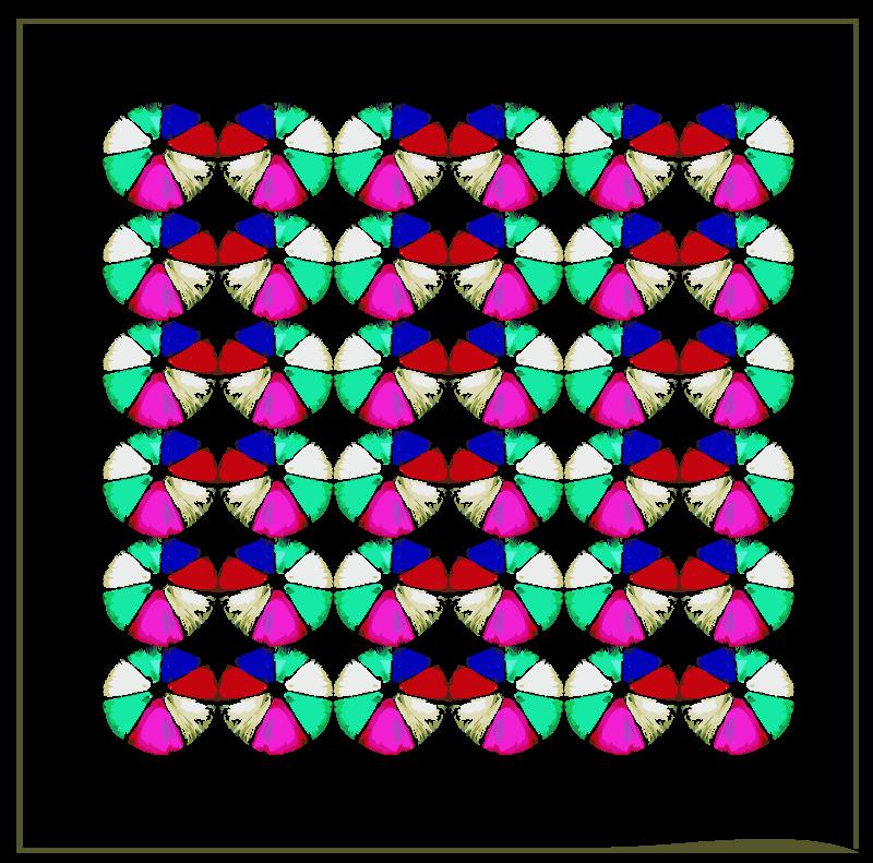Clipart - Quilt Art Framed