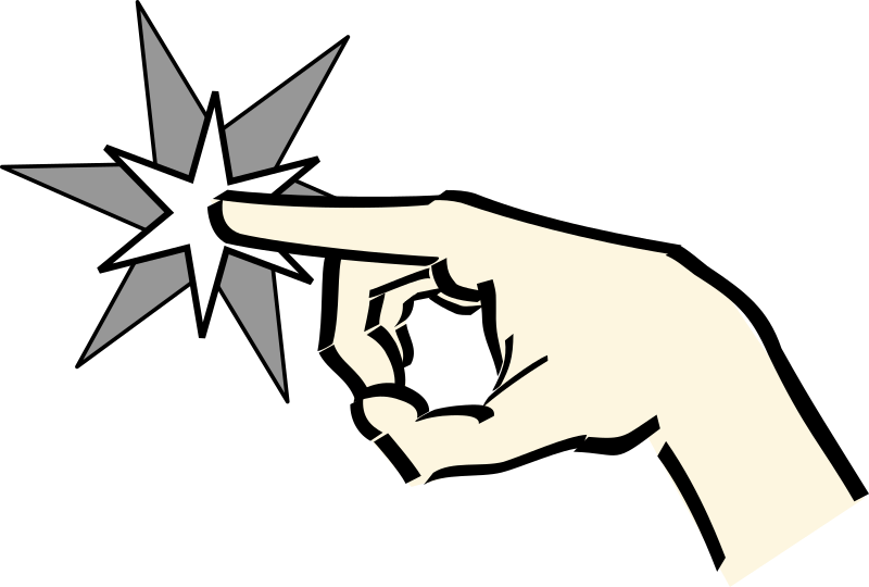 hand pointing at star by Anonymous -