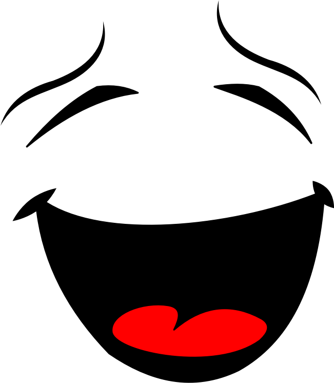 Clipart - Laughing Smiley Face Silhouette
