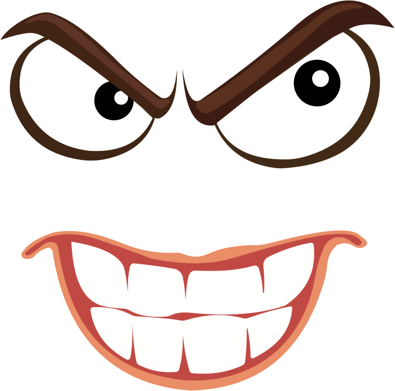 Clipart - Sinister Smiley Face