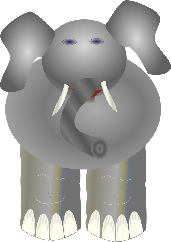 ploppy the elephant by Anonymous - An elephant.