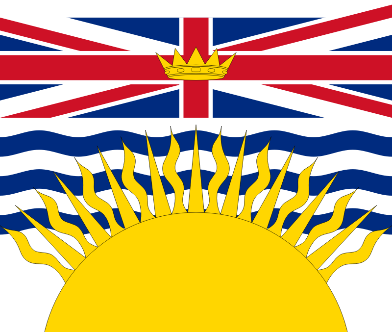 Flag of British Columbia Canada by Anonymous