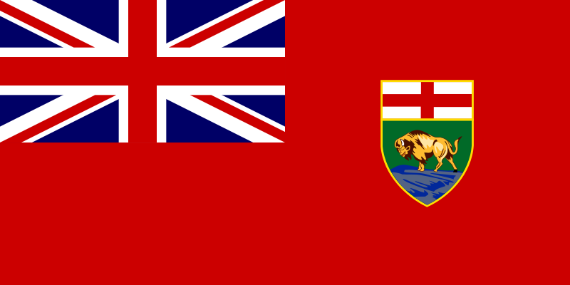 Flag of Manitoba, Canada by Anonymous -