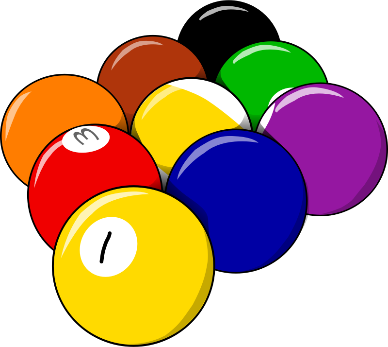 9 balls by Jarno - 9 snooker balls by Jarno Vasamaa. From old OCAL site,