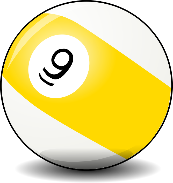 "9 ball by Jarno - ""Nine"" snooker ball by Jarno Vasamaa. From old OCAL site."