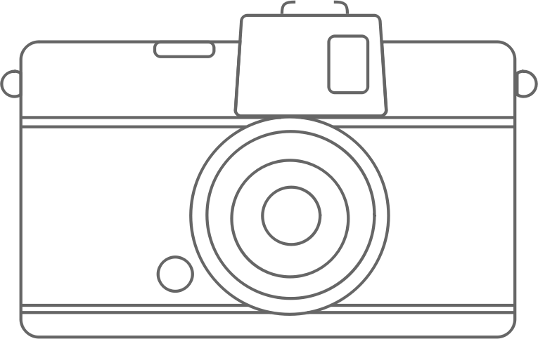 Camera Line Drawing Tattoo : Clipart compact camera line art