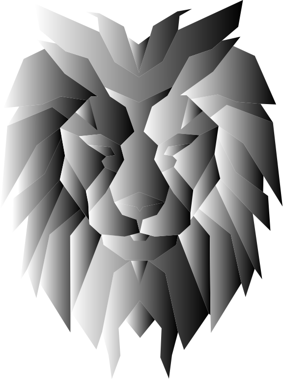 clipart grayscale polygonal lion face cute lion face clipart lion face clipart outline