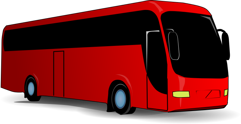 Bus1 by Anonymous - big red touring bus