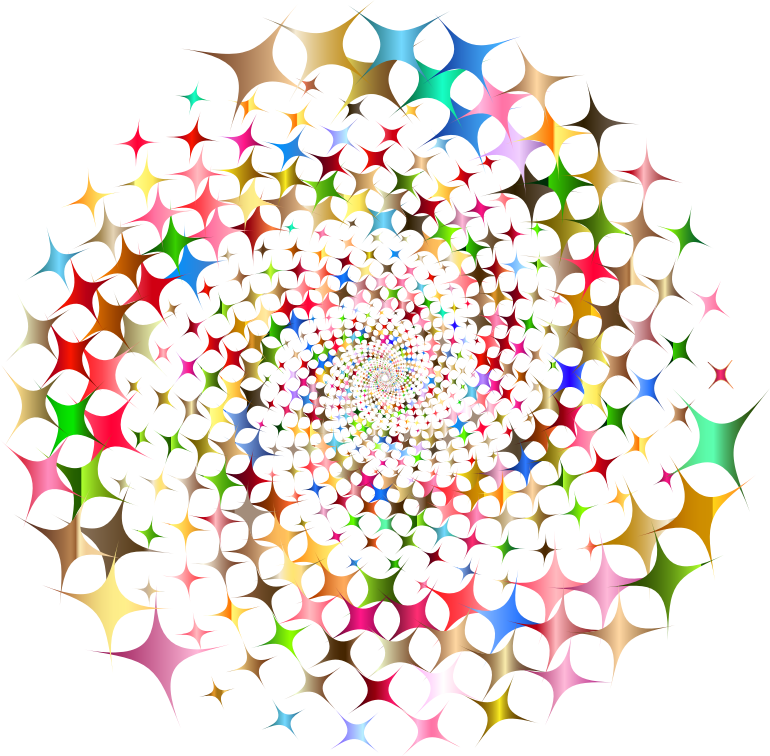 Clipart - Prismatic Starburst Vortex 3