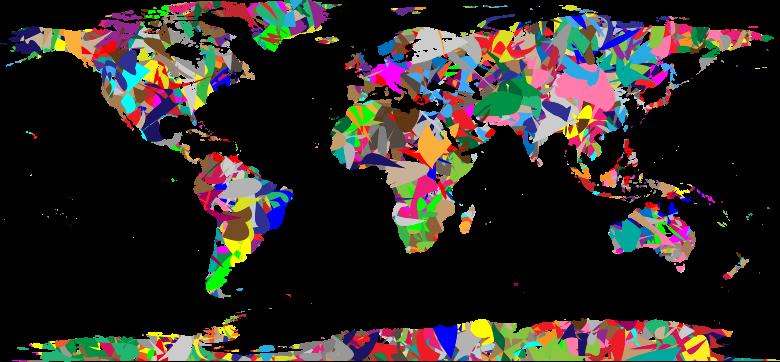 Clipart modern art world map pdf gumiabroncs Images