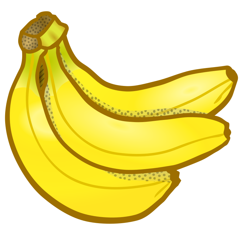 Clipart Bunch Of Bananas Coloured