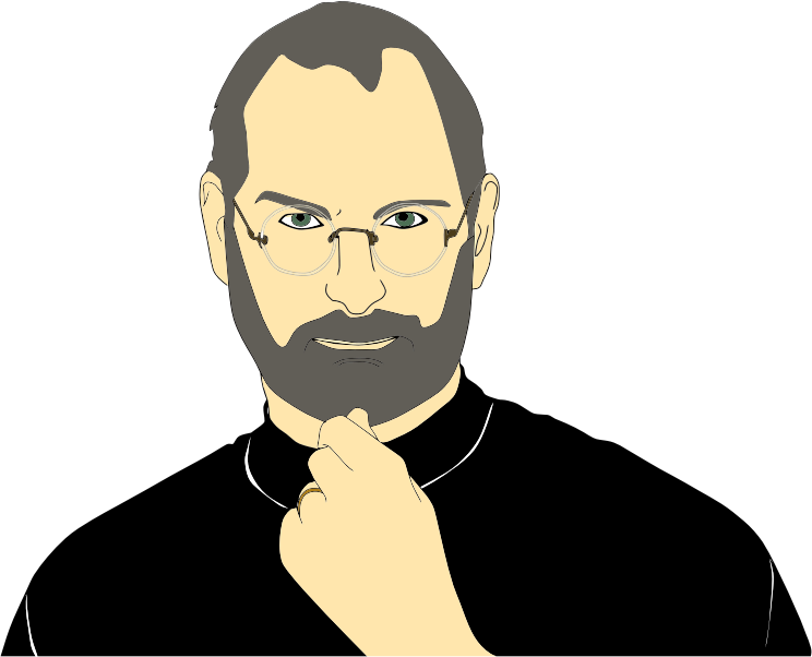 clipart steve jobs portrait