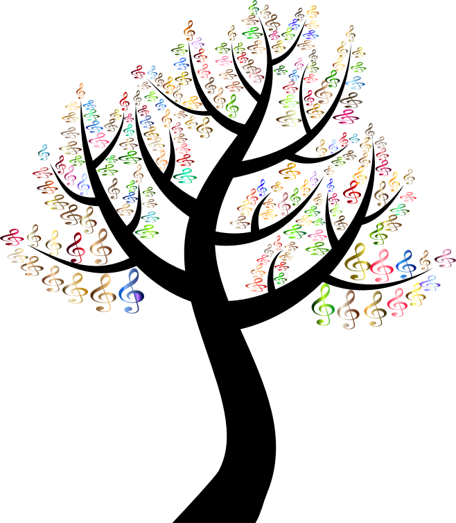 Clipart Prismatic Simple Clef Tree