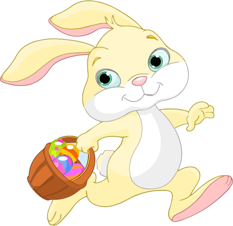 Clipart - Easter Bunny With Basket