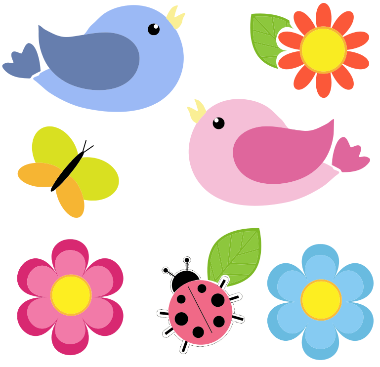 clipart flowers and birds - photo #16