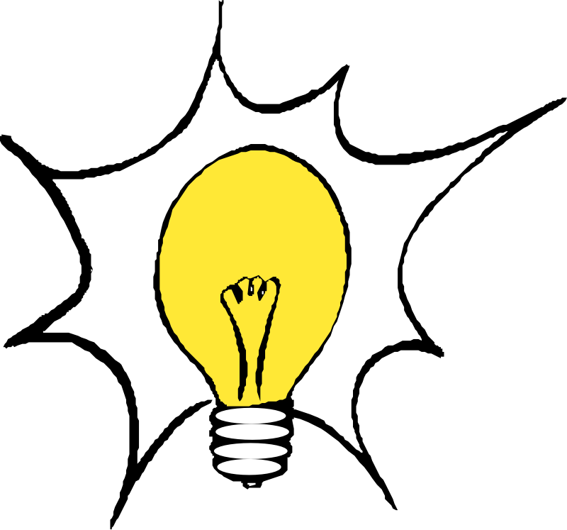 "Light bulb 3 by liftarn - Converted to SVG from clipart on ""PC för alla"" CD 3-2003."