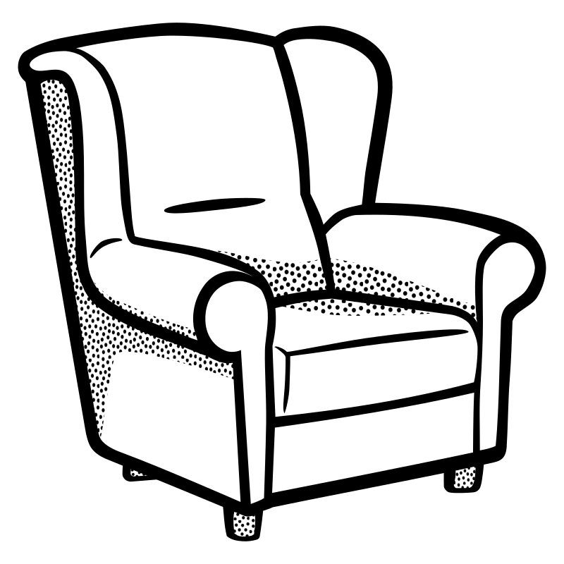 Line Drawing Chair : Clipart armchair lineart