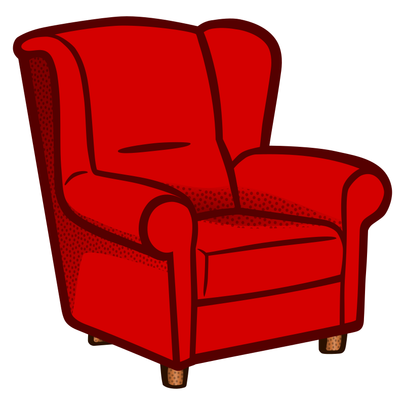 Clipart Armchair Coloured