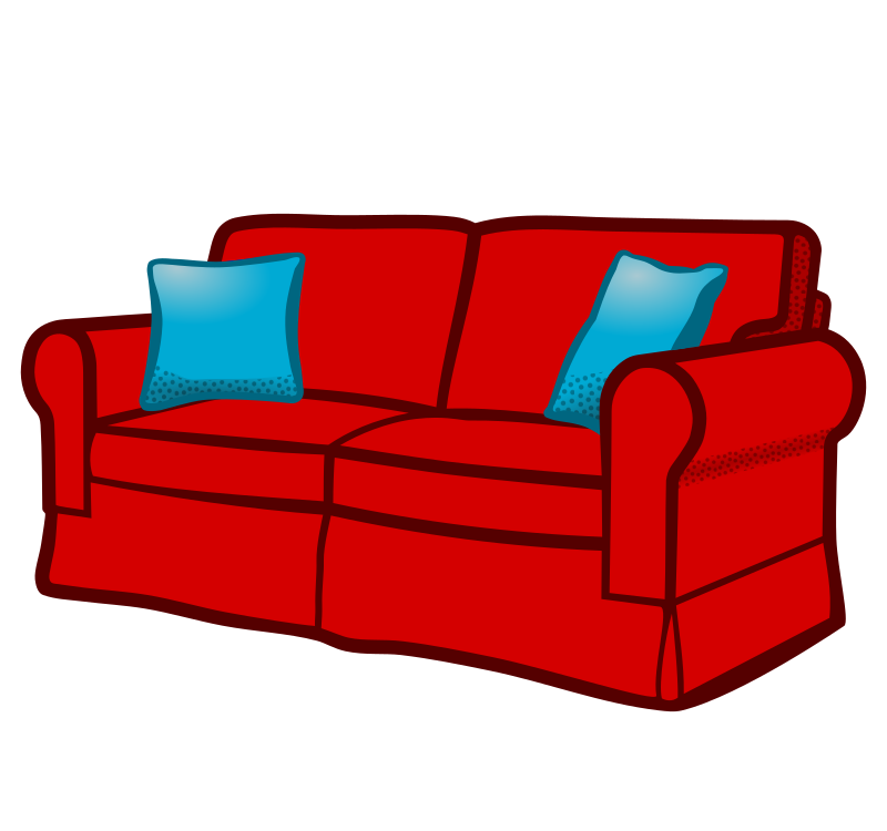 clipart sofa coloured. Black Bedroom Furniture Sets. Home Design Ideas