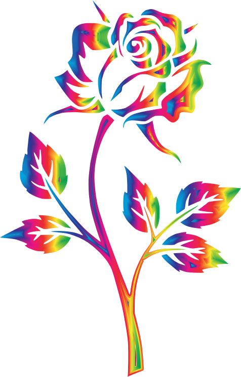 Clipart Rainbow Rose No Background