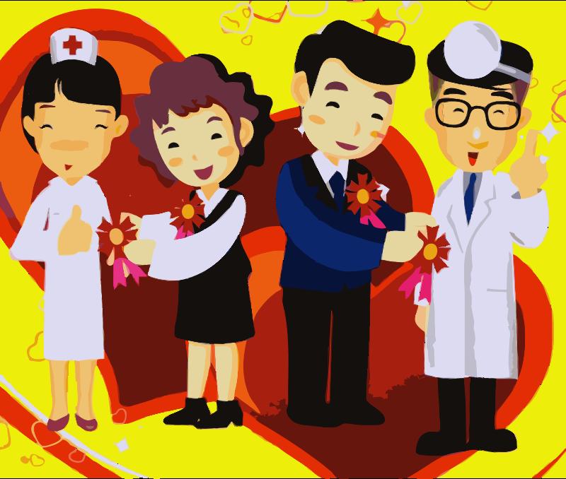 Doctors and nurses clipart