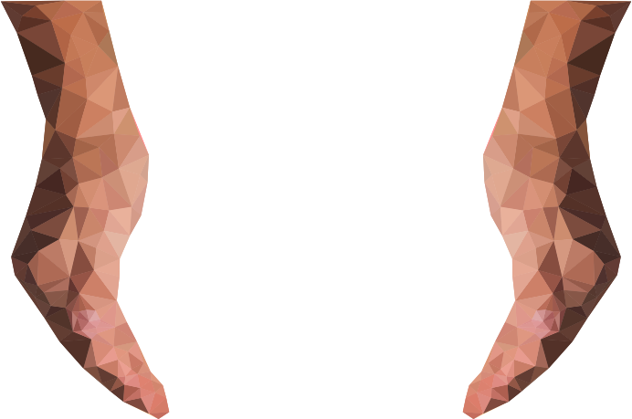 Clipart Low Poly Cupping Hands