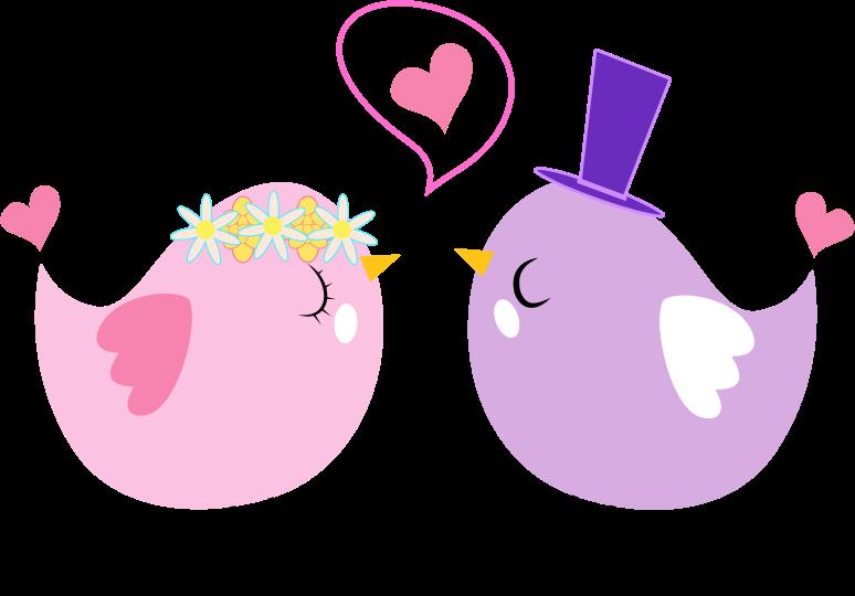 Clipart - Formal Love Birds