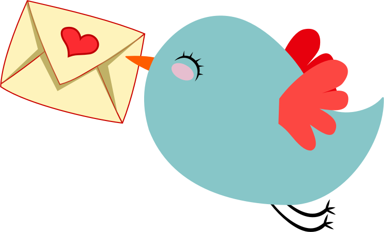 Clipart - Cute Mail Carrier Bird