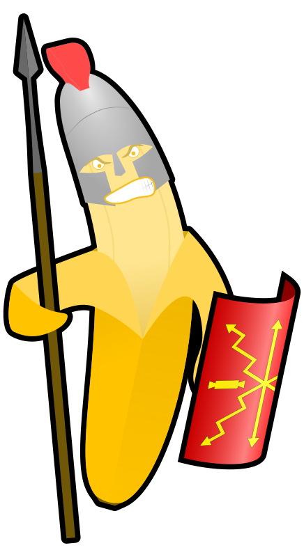 Clipart Banana Warrior