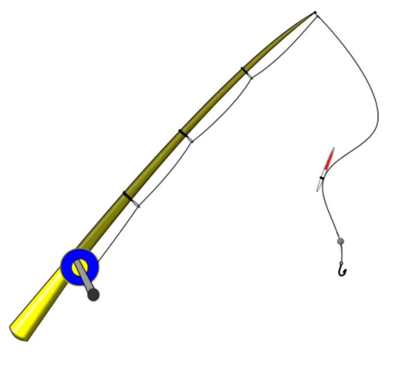 Clipart - Fishing rod