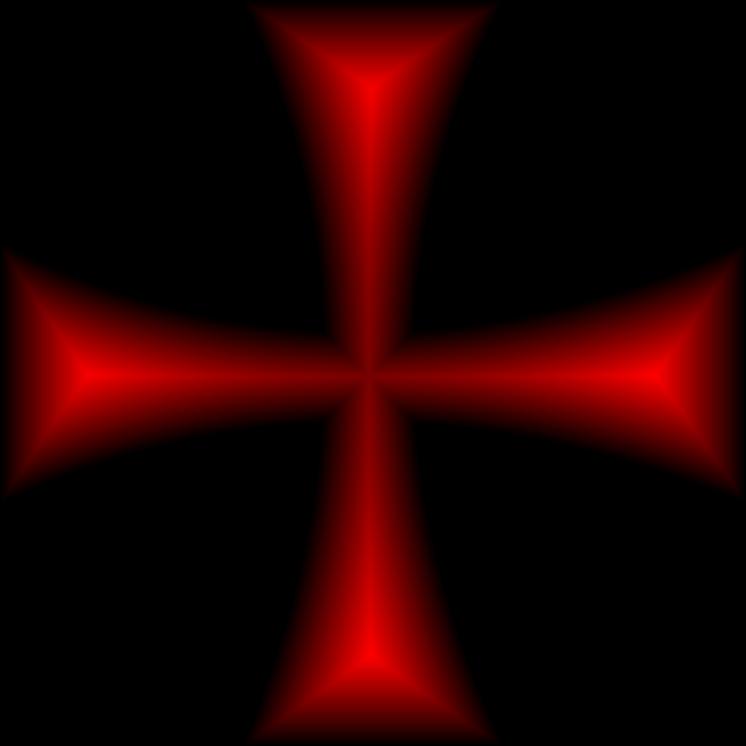 Clipart - Maltese Cross Red