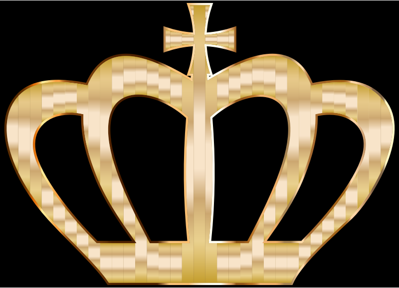 Clipart - Gold Crown Silhouette