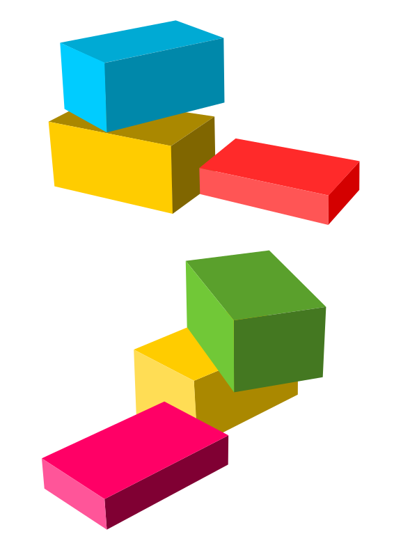 Clipart - Colored boxes