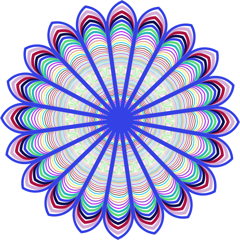 Colour Line Art Design : Clipart prismatic mandala line art design
