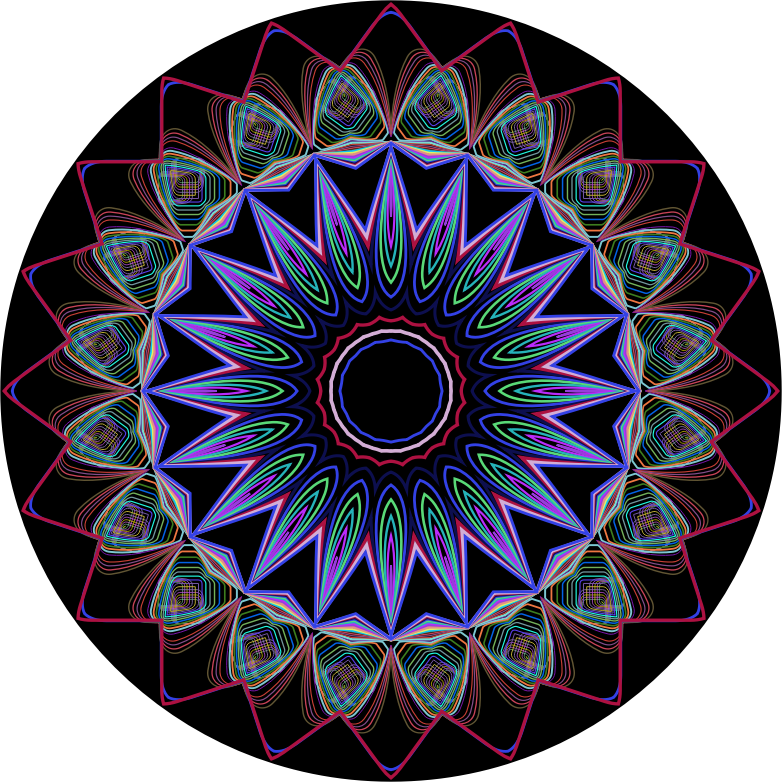 Line Art Design Png : Clipart prismatic mandala line art design