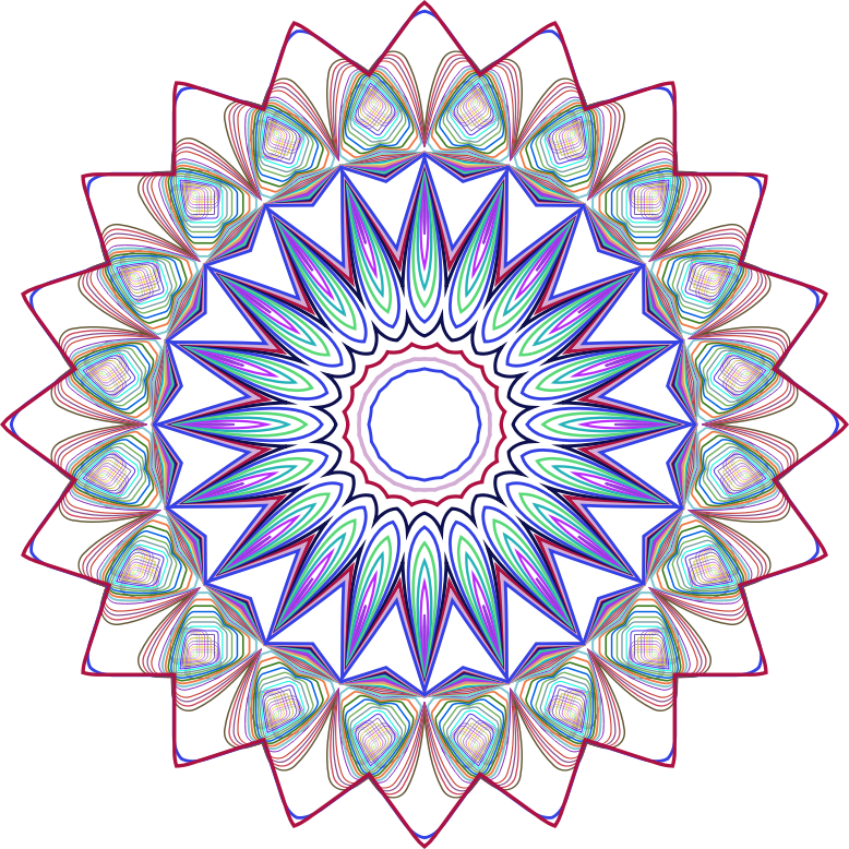 Simple Line Art Designs Png : Clipart prismatic mandala line art design no background