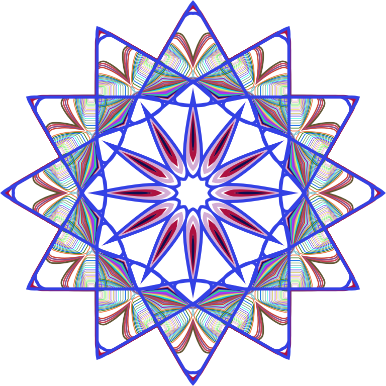 Line Art Design Png : Clipart prismatic mandala line art design no background