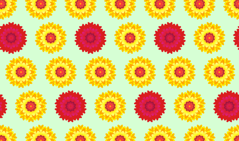 Clipart  Abstract Flower Pattern