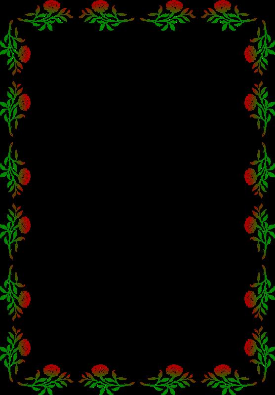 clipart floral frame 9