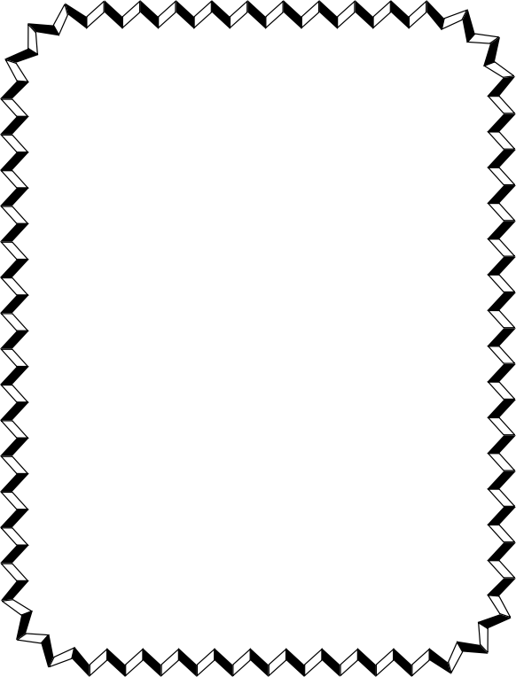 Clipart - ZigZag Border