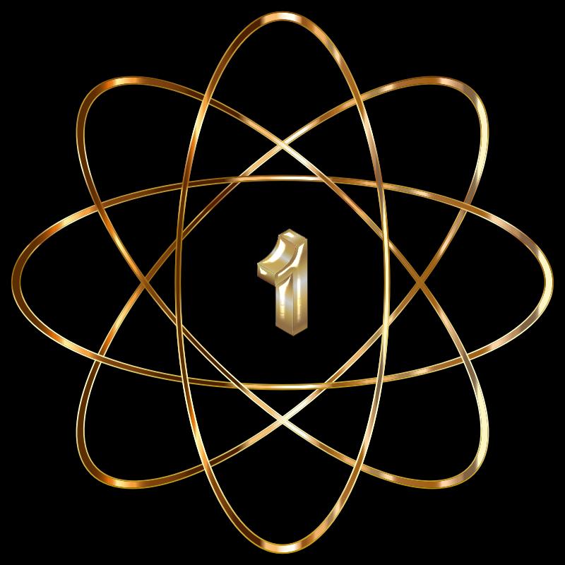clipart gold atom atm clip art atom clip art free