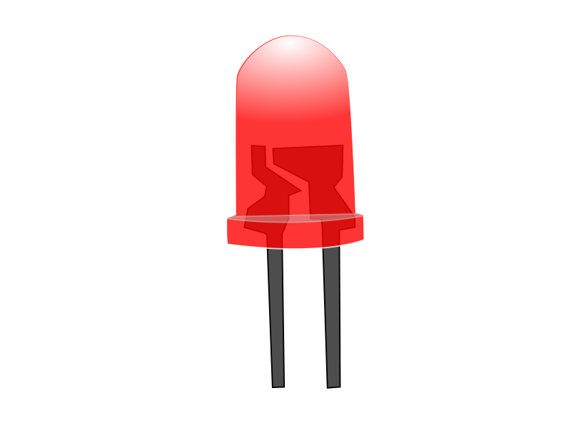 Clipart - Red LED Lamp...