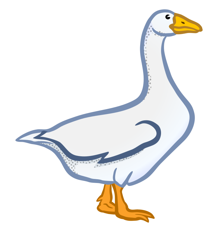 Clipart - goose - coloured